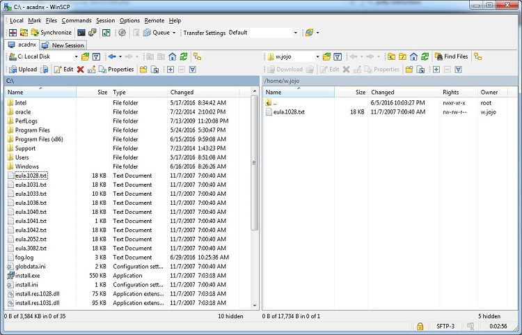 split view of remote and local storage