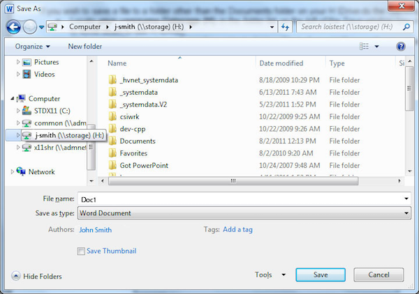 Type a name in the file name field and change the file type