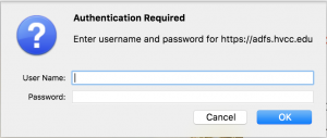 """Email login """"authentication required"""" prompt"""