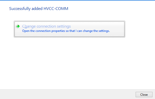 Change Connection Settings button